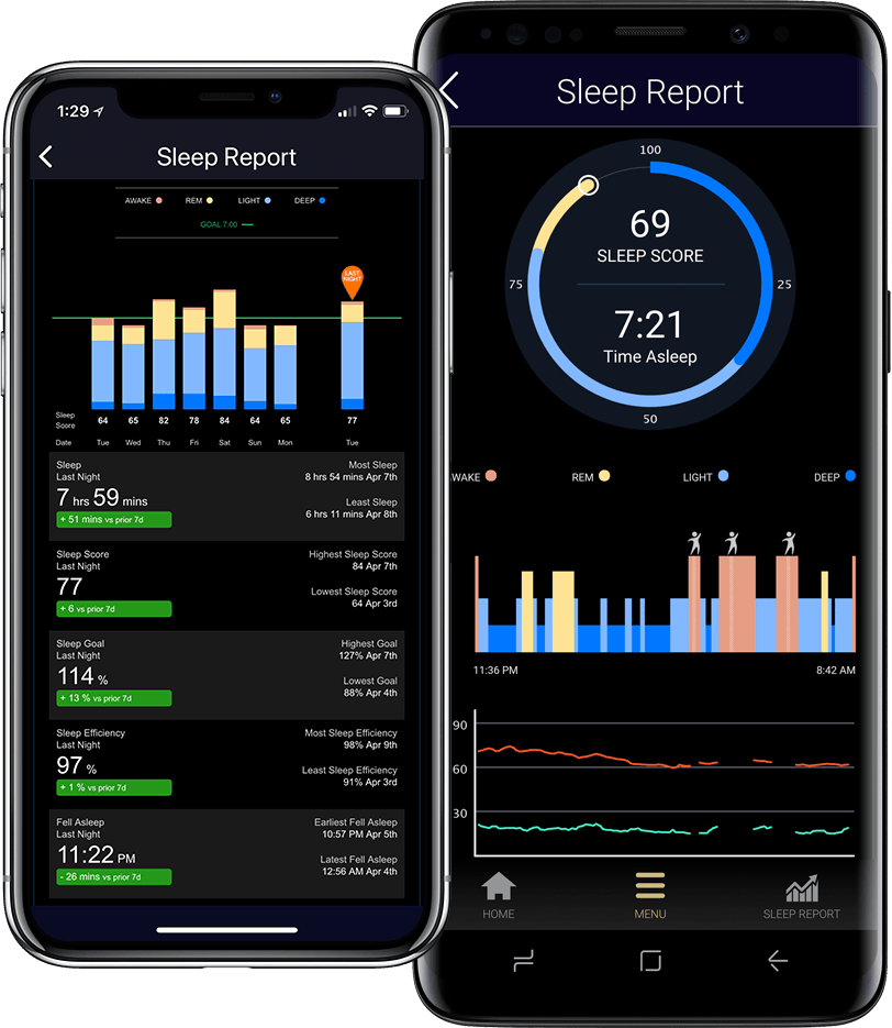 Sleeptracker for iOS and Android